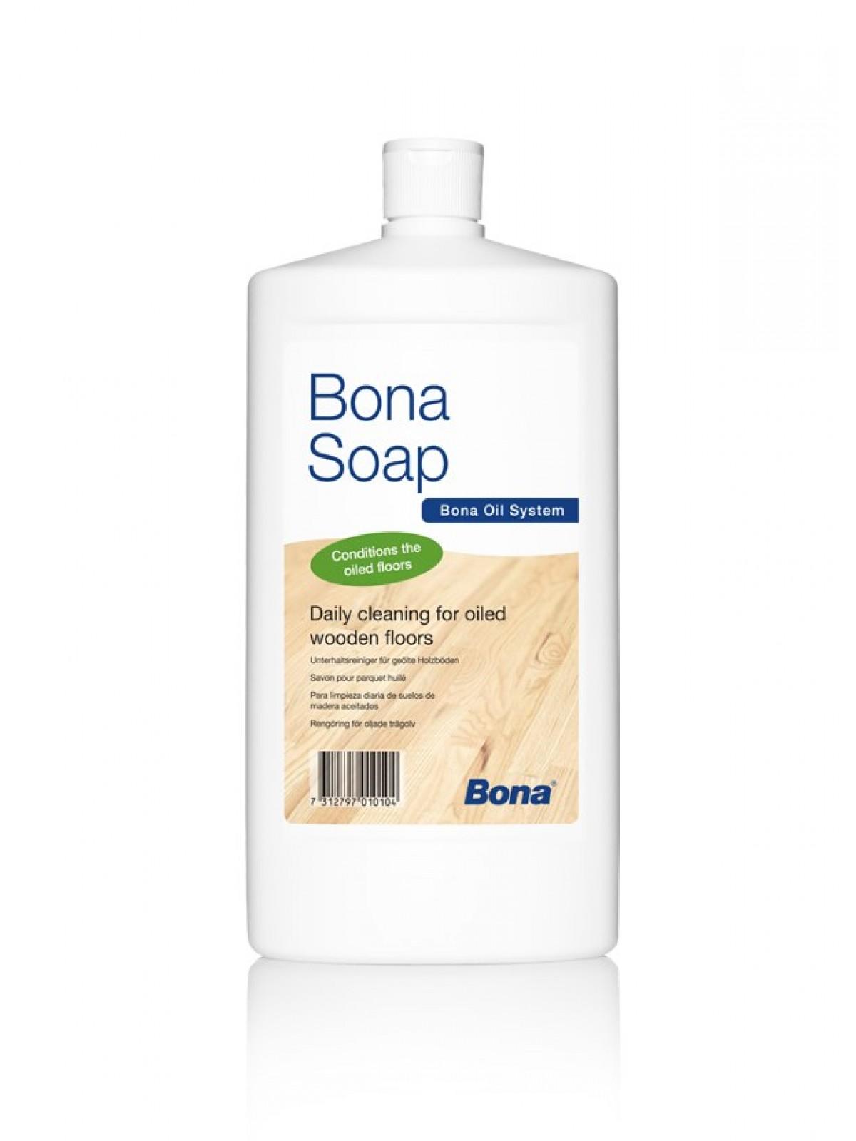 Solutie concentrata pentru curatat parchet  uleiat Bona Soap 1l